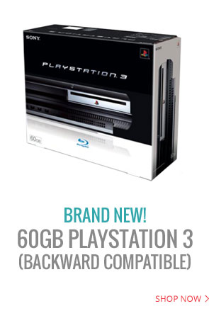 Original PS3 backward compatible 60GB system is available in Brand New condition