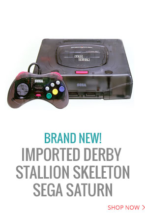 Imported Derby Stallion Skeleton Limited Sega Saturn system in Brand New condition