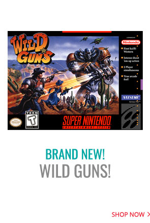 Brand New Extremely Rare SNES Wild Guns for Video Game Collectors