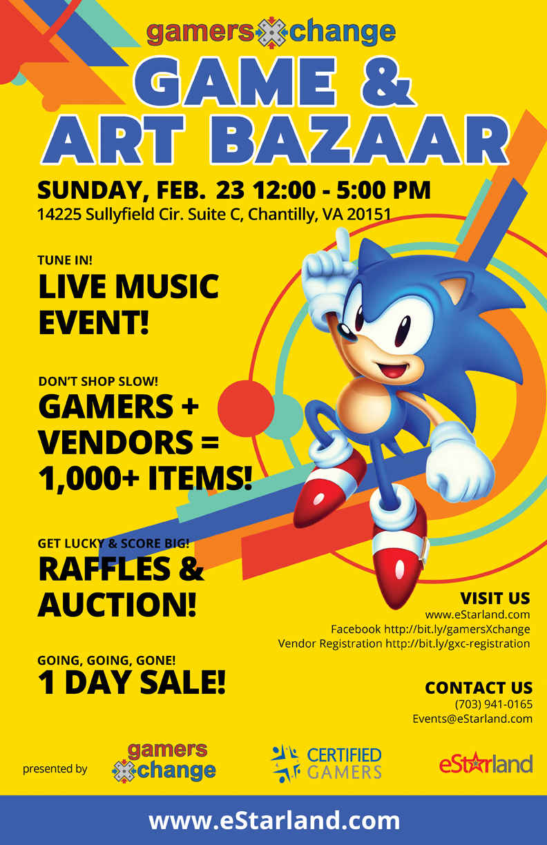 Join us for our first ever 2020 gamersXchange on February 23