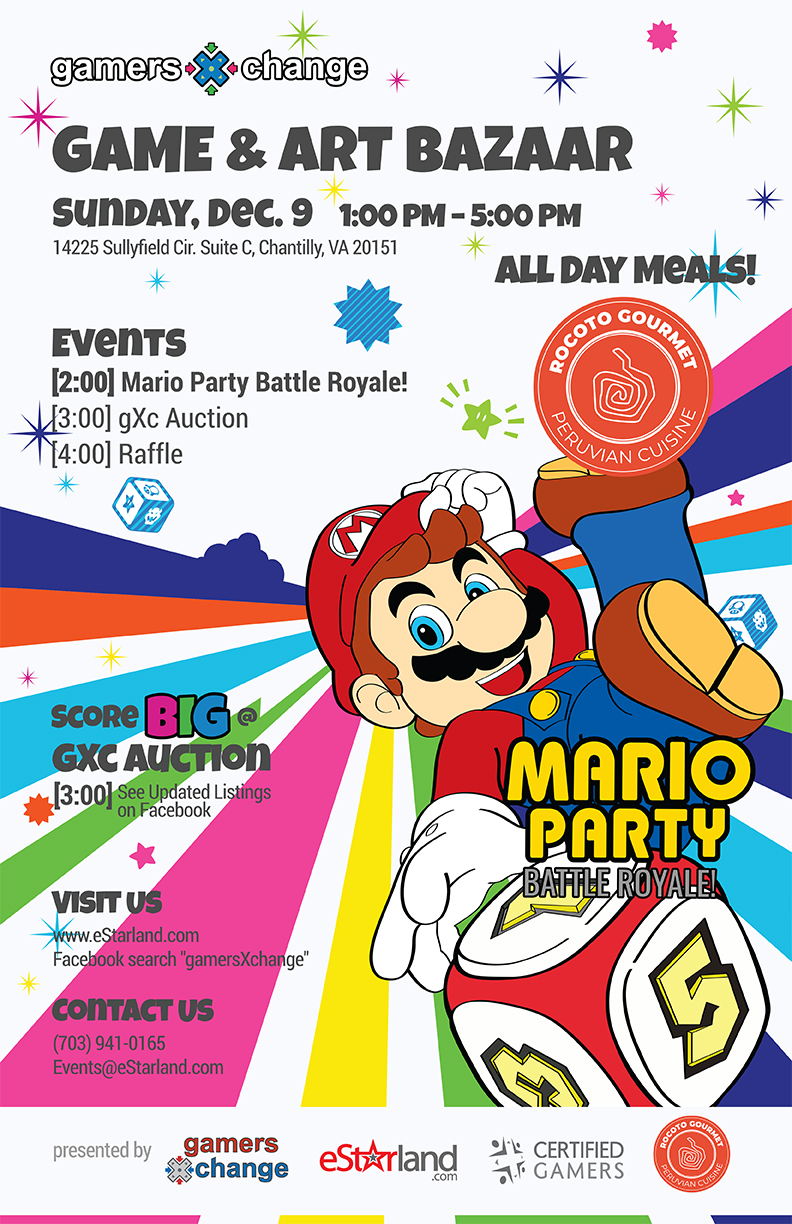 Join us for gamersXchange on December 9th featuring Mario Party Battle Royale!