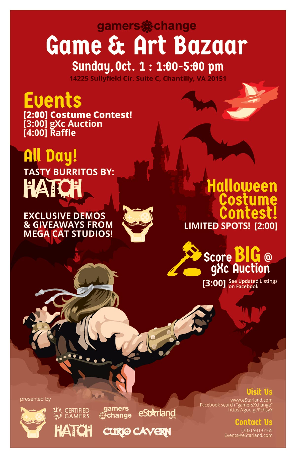 Join us for gamersXchange on October 1st featuring Costume Contest!