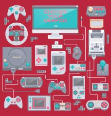 A vector image of hard-to-find and highly sought after collectible video game hardware