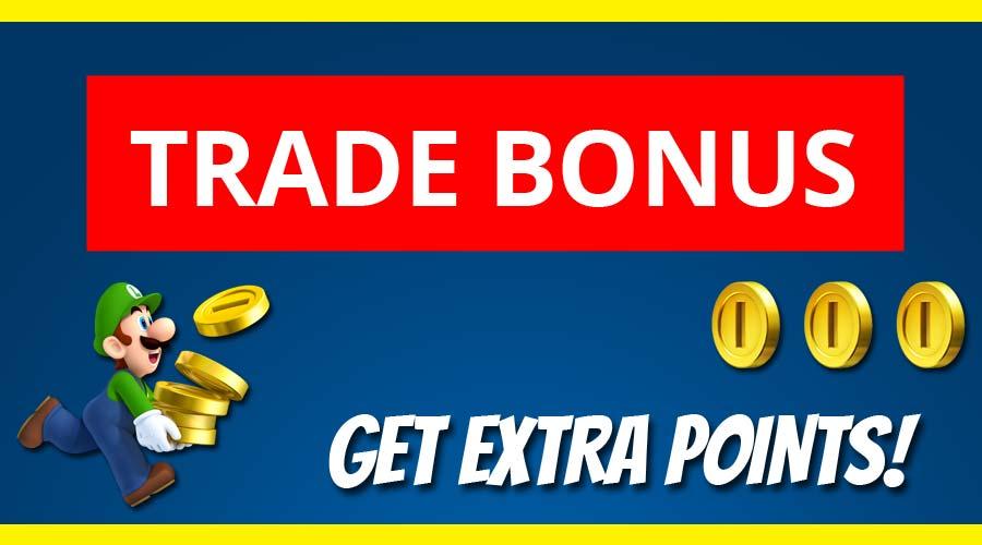 Find Trade Bonus icon to unlock Extra trade-in credit!